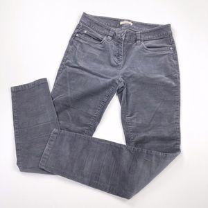 Eileen Fisher | Corduroy Grey Skinny Pant Ankle
